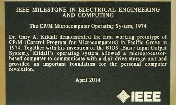 IEEE Milestone plaque installed outside 801 Lighthouse Avenue, Pacific Grove, CA
