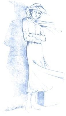 Artist rendition of the Lady in Blue