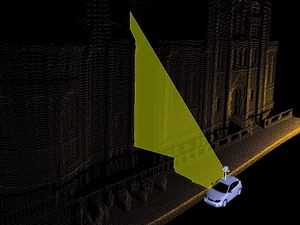 Street view uses laser rangefinding, GPS and image analysis for exact positioning