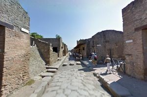 Ruins of ancient Pompeii on Google Maps with Street View