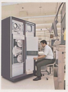 HP 2116 with the HP 1300 above, 1968 HP Annual Report