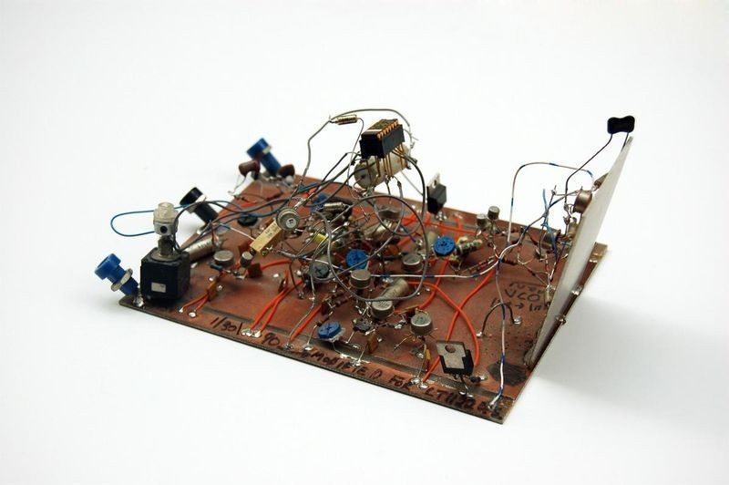 Analog circuit board prototype from Jim Williams's desk