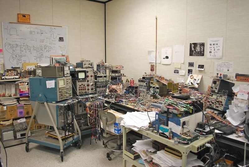 Jim Williams's workbench at Linear Technology Corporation in Milpitas, California.