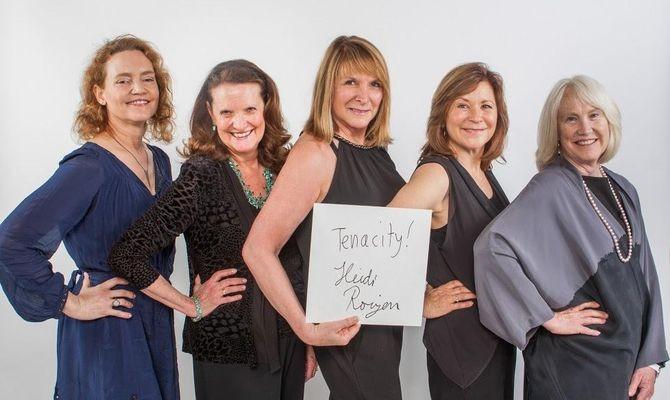 Kim Polese, Cristina Morgan, Heidi Roizen, MJ Elmore, and Ann Doerr at Exponential launch
