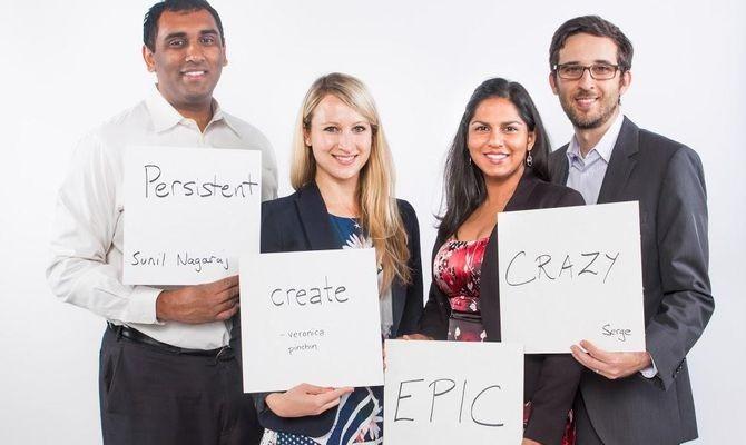 CHM's NextGen Advisory Board members: Sunil Nagaraj (Bessemer Venture Partners), Veronica Pinchin (Google), and Serge Grossman (Google)