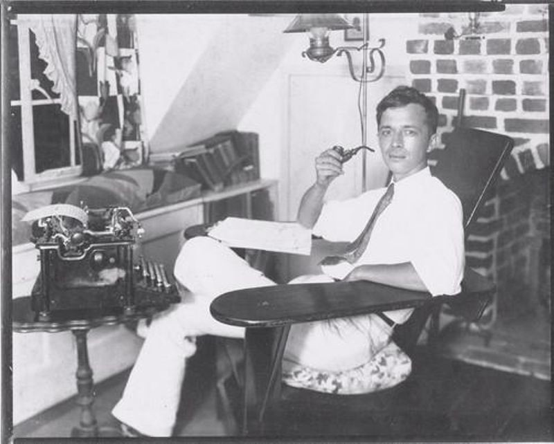 Will F. Jenkins (aka Murray Leinster) in his home study, 1930s. Used with permission of the Literary Estate of Murray Leinster.