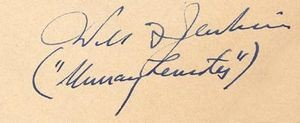 Autograph of Will F. Jenkins (and Murray Leinster), courtesy of Michael Krakoviskiy