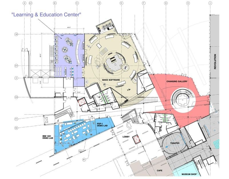 Early expansion plans by Van Sickle & Rolleri (VS&R) for Computer History Museum, including new Education Center.