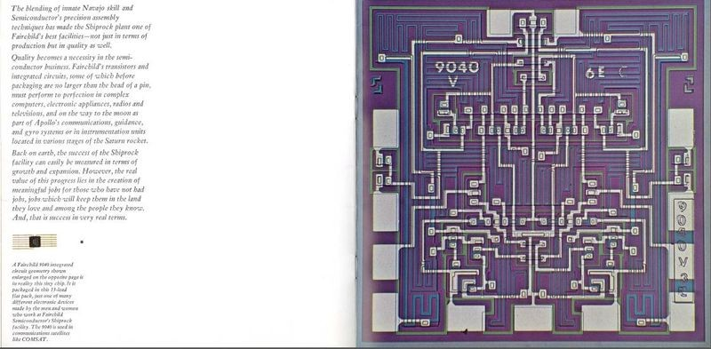Figure 5: Fairchild 9040 integrated circuit used in communications satellites like COMSAT.