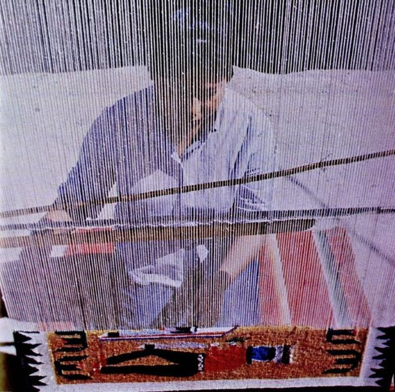 Figure 4: Navajo woman weaving