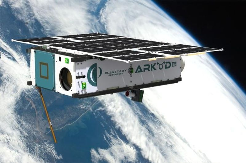 "One of Planetary Resources' ""robotic geologists"" is the Arkyd 6, built in Redmond, Washington. It is scheduled to launch later this year. It will be used to test the company's prospecting and space-based observation technologies. (Image Courtesy of Planetary Resources)"