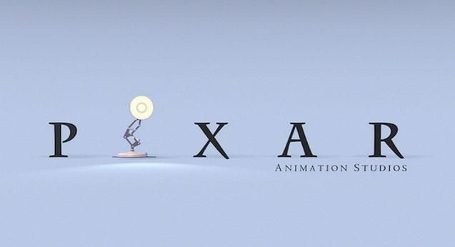 Luxo Jr. and the Pixar logo