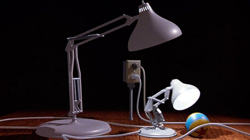 A still from Pixar's Luxo Jr.
