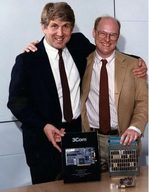 Robert Metcalfe with David Boggs, ca. 1985Source: CHM Revolution exhibition, courtesy of David Boggs