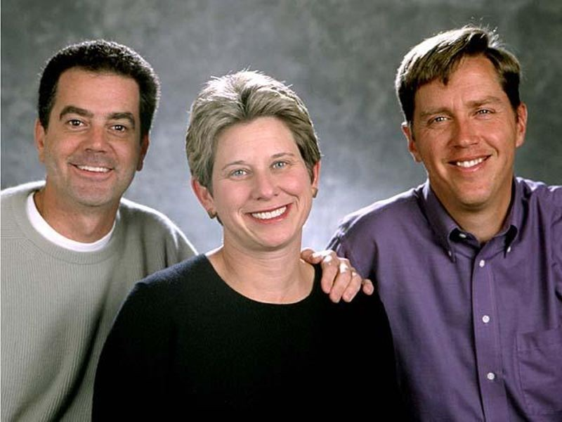 Palm founders Ed Colligan, Donna Dubinsky, & Jeff Hawkins.Source: CHM Revolution exhibition