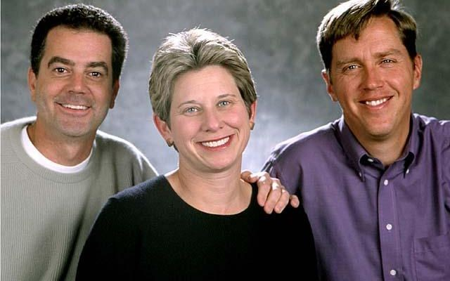 Palm founders Ed Colligan, Donna Dubinsky, & Jeff Hawkins.Source: CHM Revolution exhibition