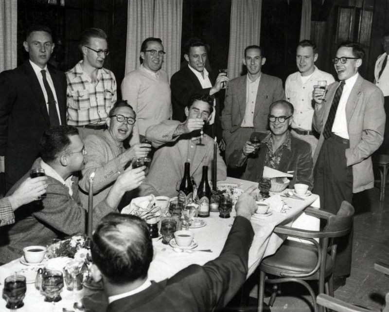 Shockley and staff (including later Fairchild defectors) celebrate his Nobel Prize, 1956Source: CHM Revolution exhibition