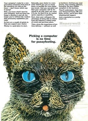 Original Honeywell ad for Amy the Cat