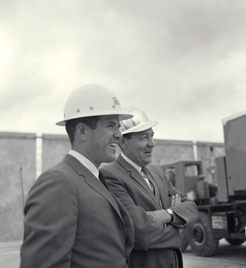"Kenneth G. Sletten (left) with business partner Onslow H. ""Rudy"" Rudolph"