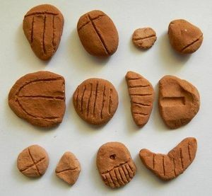 Near Eastern Clay Tokens (replica), Mesopotamia, 3,000 – 10,000 B.C