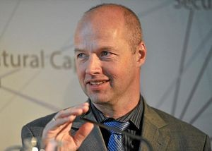 Sebastian Thrun, team leader for Stanley, winner of the 2005 Grand Challenge.