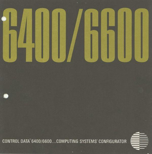 Control Data 6400/6600... computing system's configurator