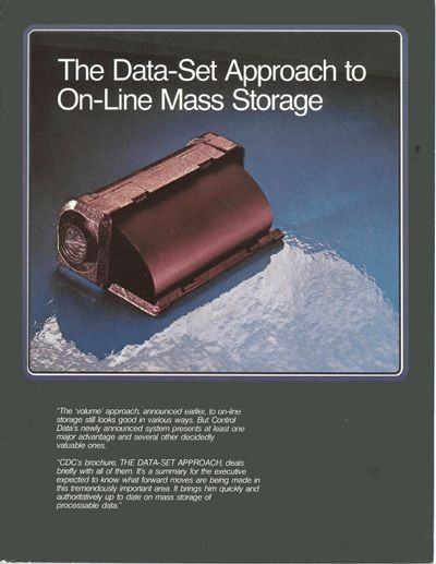 The Data-Set Approach to On-Line Mass Storage