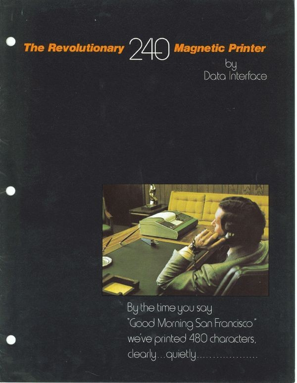 The Revolutionary 240 Magnetic Printer by Data Interface