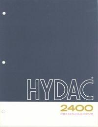 HYDAC 2400 Hybrid Digital/Analog Computer