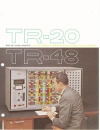 TR-24, TR-48 Desk Top Analog Computers...for the Ultimate in High-Speed,   Low-Cost Problem Solving Capabilities