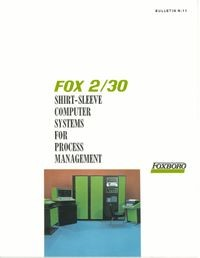 FOX 2/30 Shirt-Sleeve Computer Systems For Process Management