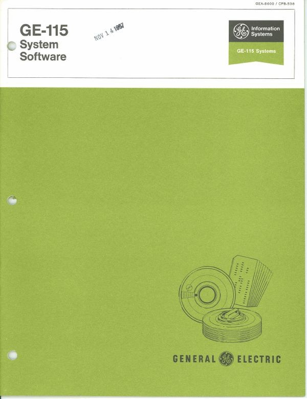 GE-115 system software