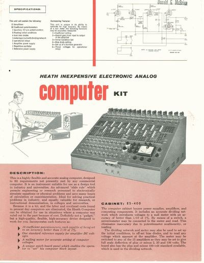 Heath Inepxensive Electronic Analog Computer Kit