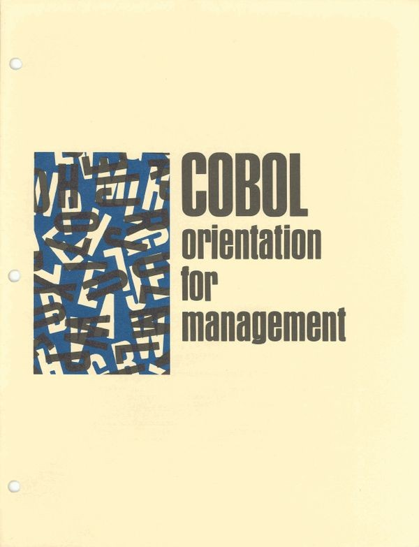 COBOL Orientation for Management