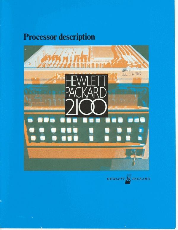 Hewlett-Packard 2100 Processor Description