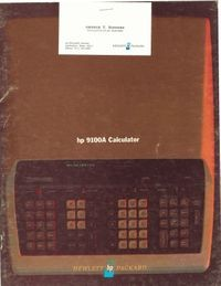 HP 9100A Calculator