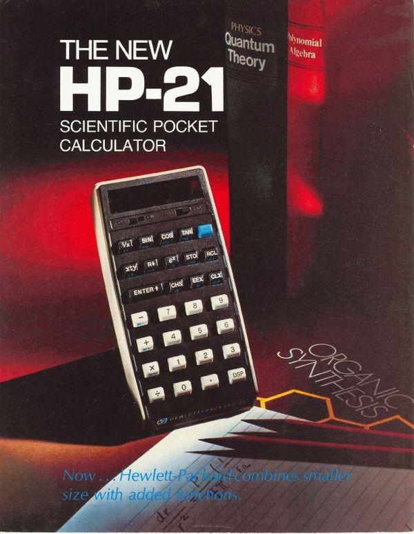 The New HP-21 Scientific Pocket Calculator