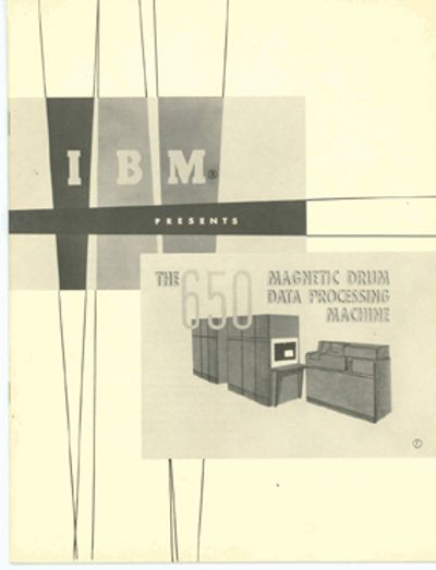 IBM Presents the 650 Magnetic Drum Data Processing Machine
