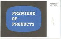 Premiere of Products