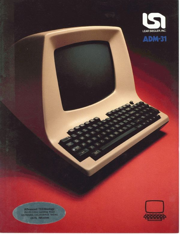 The ADM-31. A terminal far too smart to be considered Dumb.