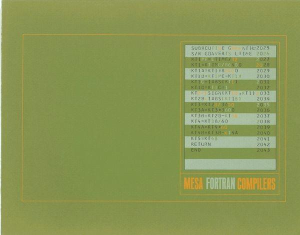 Mesa Fortran Compilers