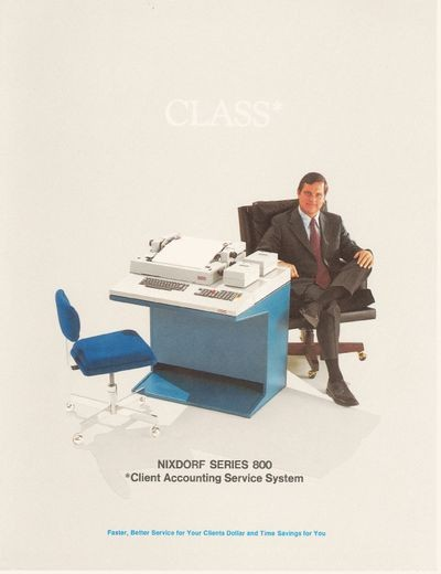 Nixdorf Series 800 Client Accounting Service System CLASS