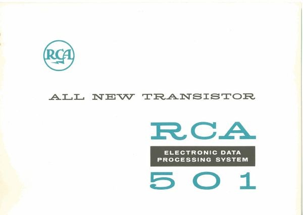 All New Transistor RCA 501 Electronic Data Processing System