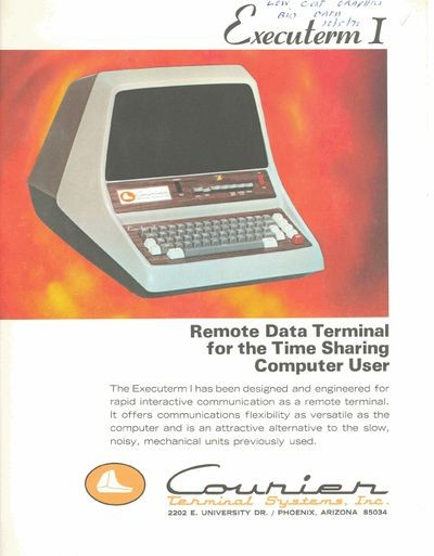 Executerm I: Remote Data Terminal for the Time Sharing Computer User