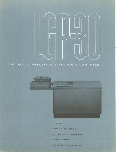 LGP-30 The Royal Precision Electronic Computer