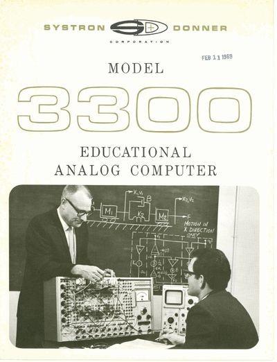 Model 3300 Educational Analog Computer
