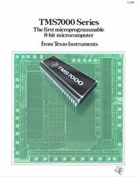 TMS700 Series: the First Microprogrammable 8-bit Microcomputer from Texas   Instruments