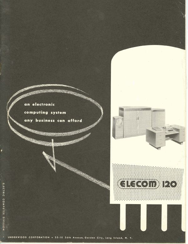 ELECOM 120 an Electronic Computing System Any Business can Afford