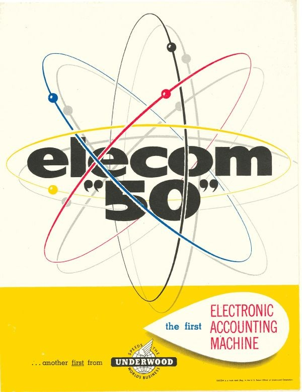 """Elecom """"50"""" the First Electronic Accounting Machine"""