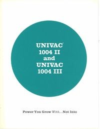 Univac 1004 II and Univac 1004 III